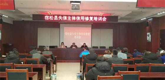 绿盾征信安庆服务机构为宿松县失信主体做信用修复培训