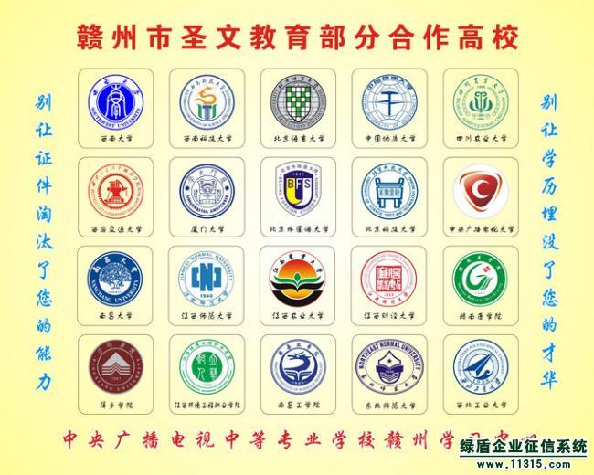 赣州市圣文教育信息咨询有限公司部分合作高校