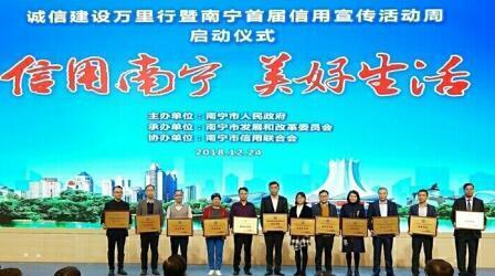 绿盾征信南宁服务机构参加南宁首届信用宣传...