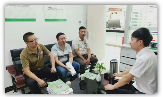 隴南市發改委財經信用法規科科長一行調研綠盾征信隴南服務機構