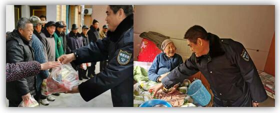 绿盾征信海安服务机构到当地敬老院看望慰问老人